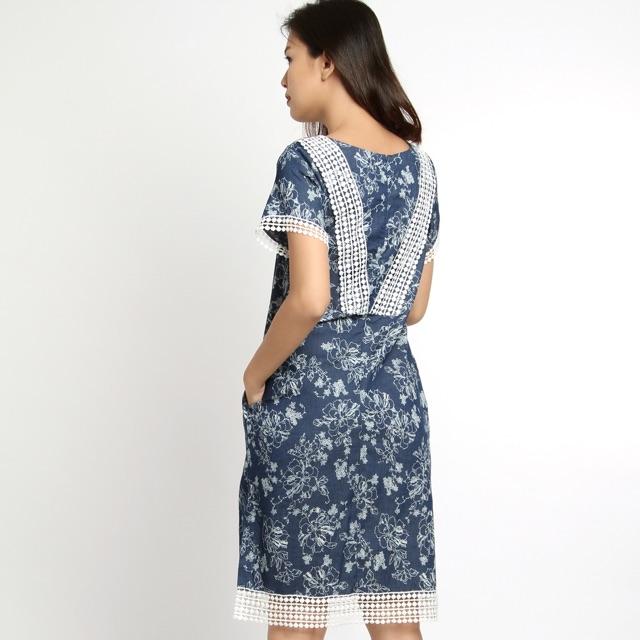 Đầm phối áo ren veronica