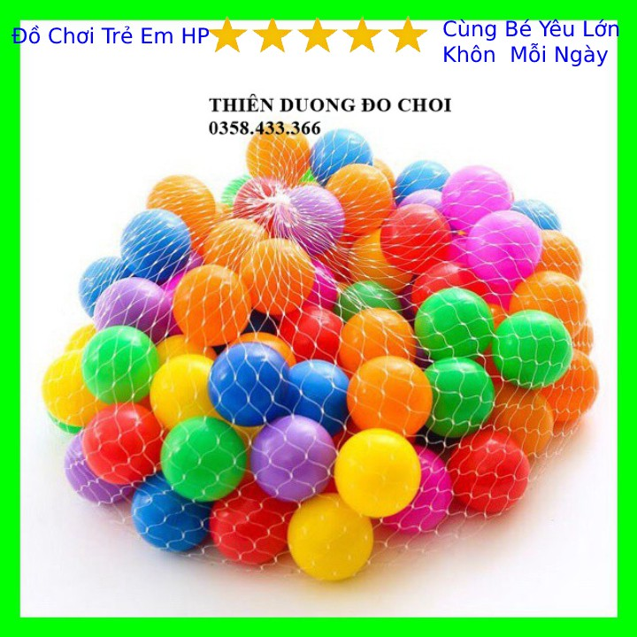 Đồ chơi bóng nhựa cho bé (set 10 quả)