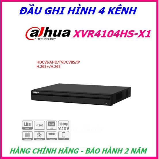 Đầu ghi hình 4 kênh 5 trong 1 Dahua XVR4104HS-X1, Hỗ trợ camera HDCVI/TVI/AHD/Analog/IP