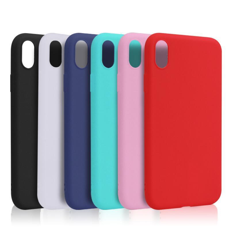 Ốp điện thoại TPU màu trơn chống sốc xinh xắn cho iPhone 6 6s 6Plus 6sPlus 5 5S SE