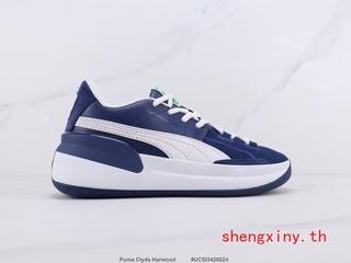 Originals Puma Clyde Harwood Giày bóng rổ Puma Giày bệt Giày thể thao Giày thể thao Thời trang Nam và Nữ Màu xanh trắng Đỏ 36-44