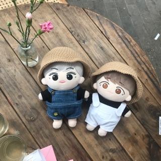 Mũ vành cho doll 20 cm