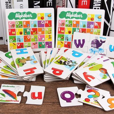Bộ Thẻ Ghép Học Chữ Cái In Hoa, In Thường Và Tiếng Anh Có Hình Minh Họa