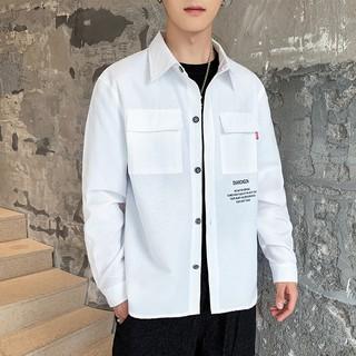 Áo sơ mi tay dài vải oxford form ôm thời trang Hàn quốc cho nam