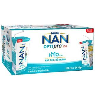 Sữa Dinh Dưỡng Pha Sẵn Nan Optipro Kid 180ml/Hộp – Thùng 6 Lốc (24 Hộp)