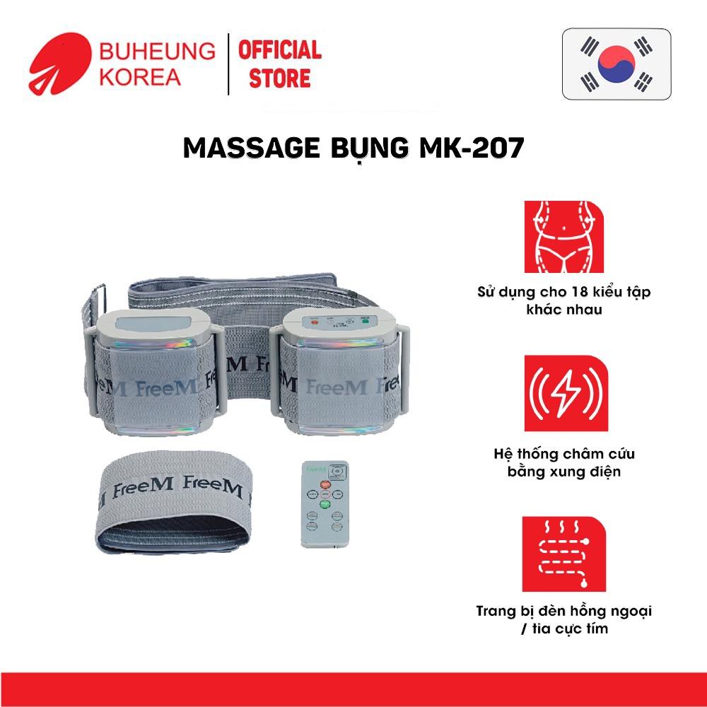 Máy massage bụng, châm cứu bằng xung điện đa năng Buheung Korea MK207 (có điều khiển) (Made in Korea)