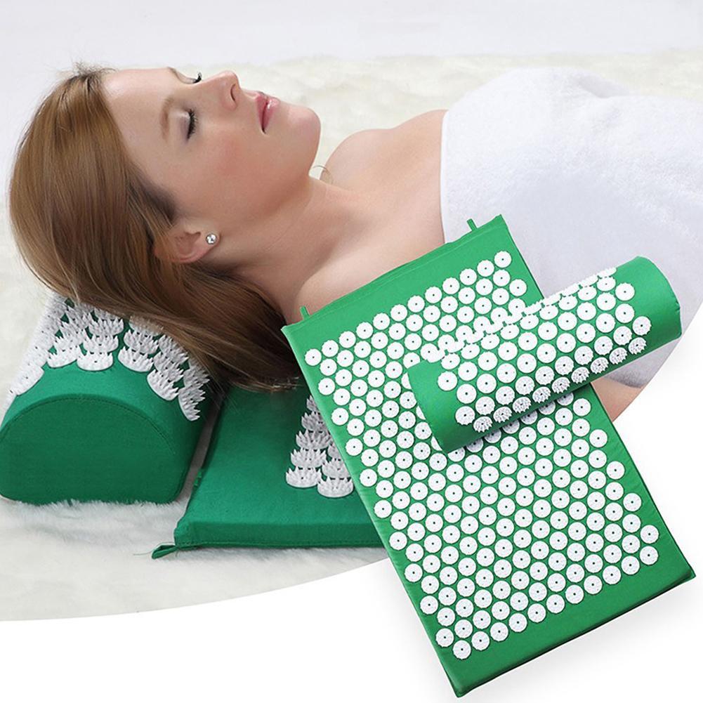 Thảm bấm huyệt - thảm mát xa đa năng toàn cơ thể cố gối đầu + tặng kèm túi đựng