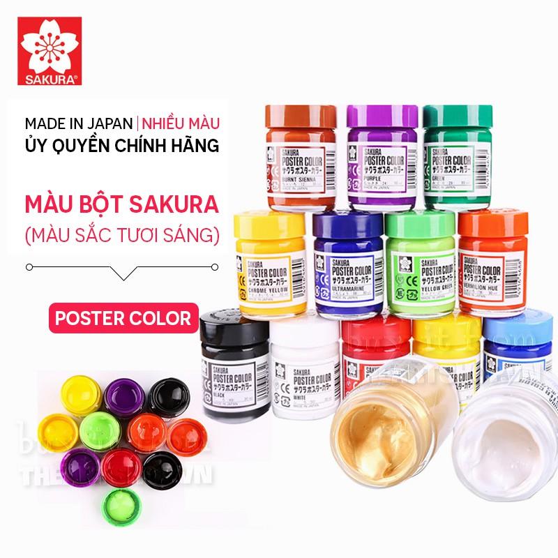 Màu bột SAKURA Poster Colors 30ml - 30 màu