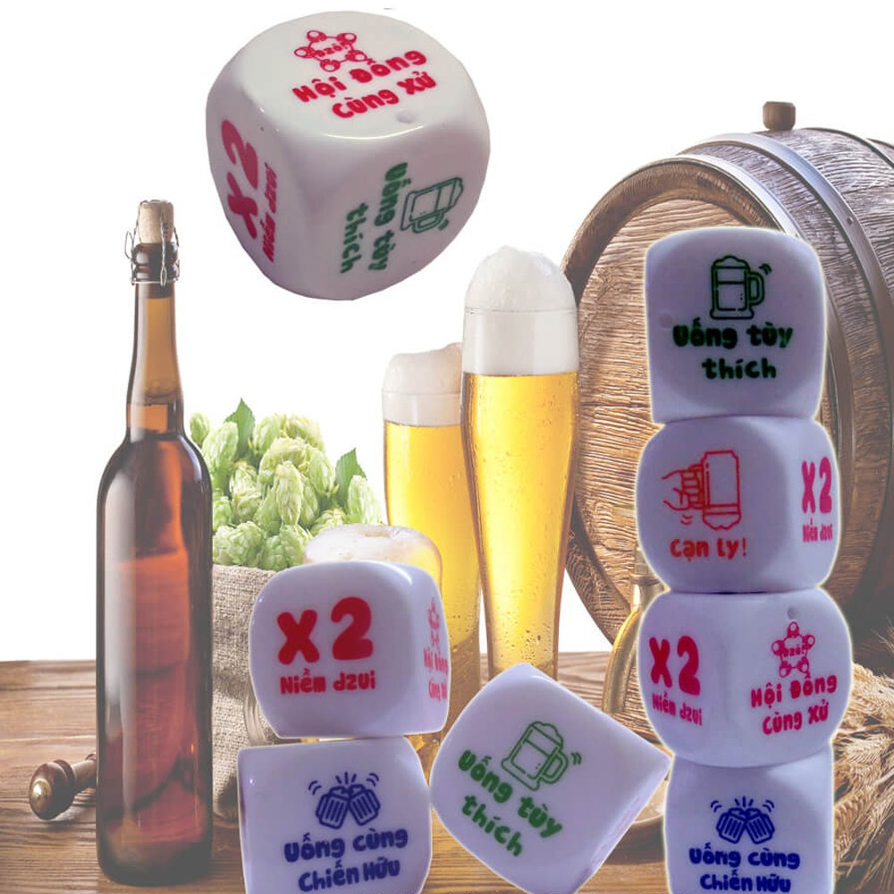 Xí ngầu đẹp uống bia set 5 viên (HAO-XNDUB) HM