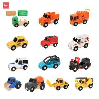 Xe tải gỗ Logistics, xe Công tơ nơ, chơi cùng đường ray gỗ