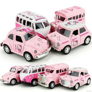 Hello Kitty Doraemon Classic Light Sound Bus Beetle Flash Car