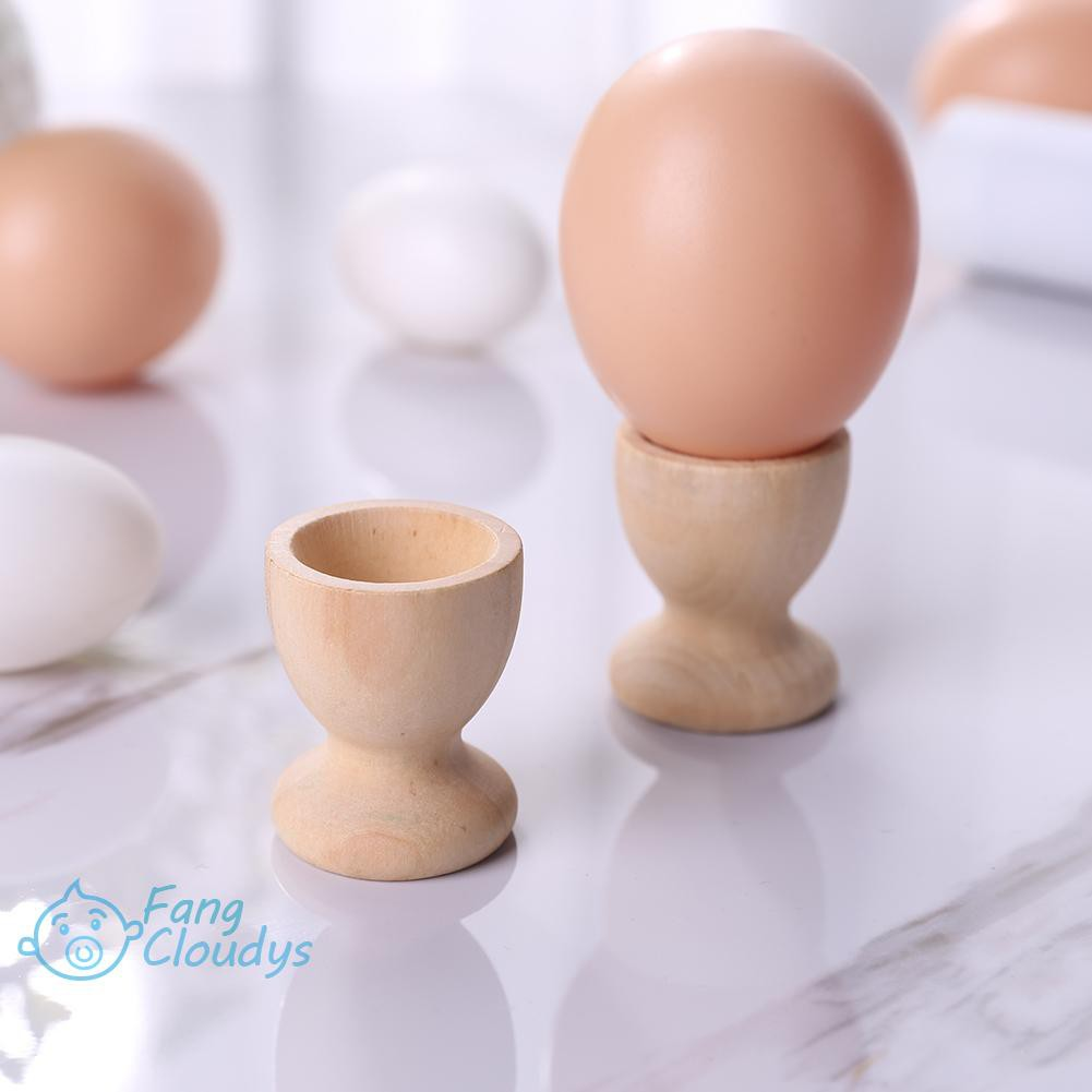 ♦[IN STOCK/COD]♦30/50pcs/Pack DIY Decor Wooden Egg Holder Wine Cups Easter Egg Tray Party