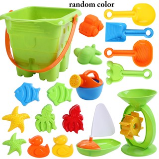 18PCS Beach Sand Toy Set Creative Assorted Types Educational Beach Toy for Kids