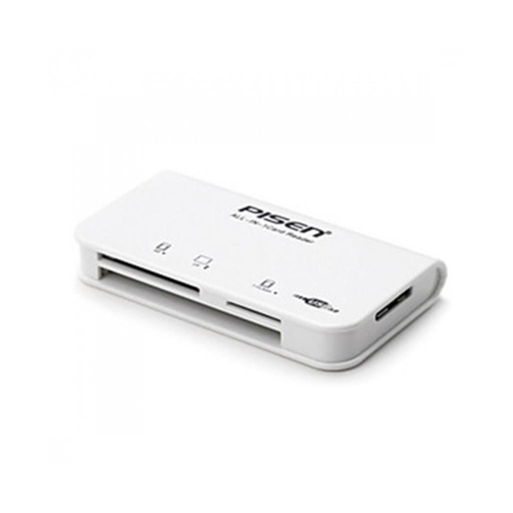 Đầu đọc thẻ Pisen All in One (3 Slot) - Chuẩn 2.0 (Hỗ trợ thẻ SD, SDHC, CF, T-Flash/Micro SD/Micro S