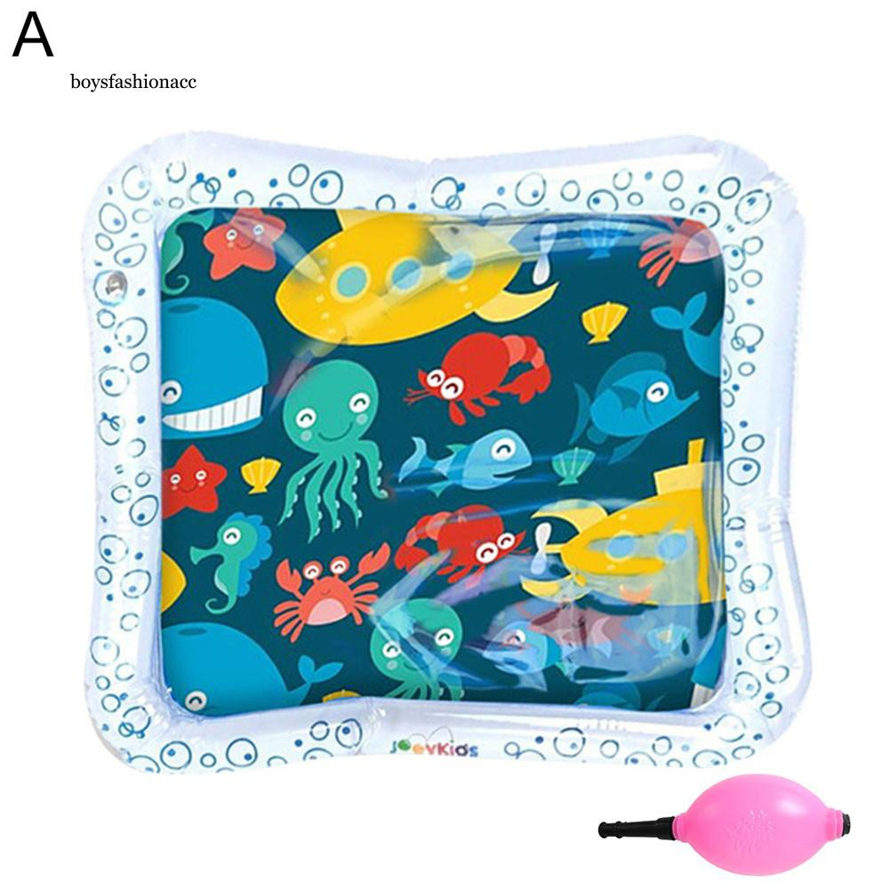 BOYS Cartoon Ocean Animal Infant Baby Inflatable Water Playing Mat Cushion with Pump