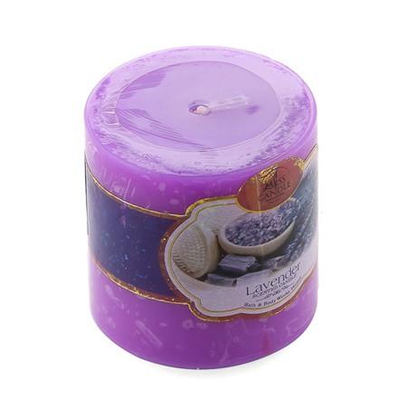 Set 3 Nến thơm trụ tròn D5H5 Miss Candle MIC4565 5 x 5 cm (Tím, hương oải hương)