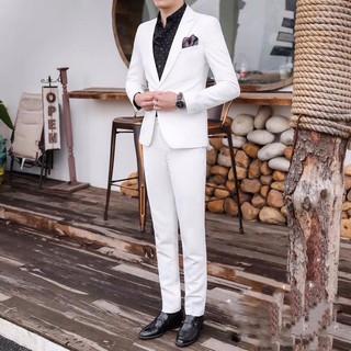 Bộ vest trắng tinh hàng cao cấp