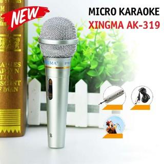 [Mã ELFLASH5 giảm 20K đơn 50K] Micro Karaoke XINGMA AK-319 Mic hát có dây chống hú cao cấp - Hàng bảo hành 12 tháng