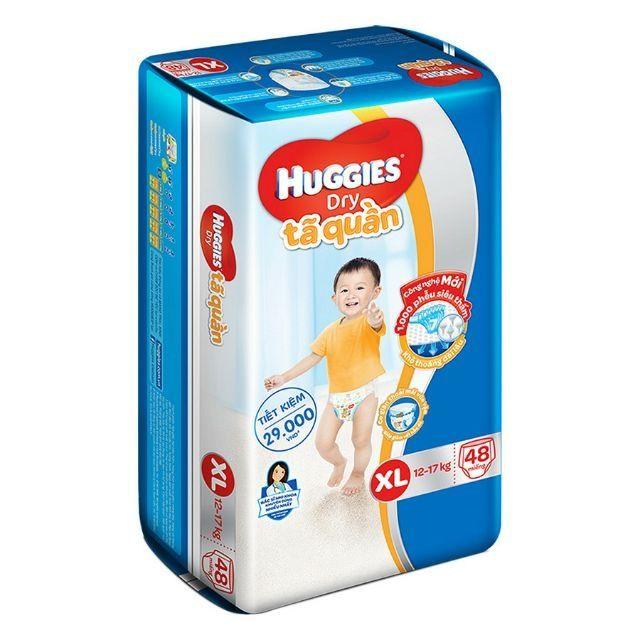 Tã quần Huggies XL48 ( 12-17kg, 48 miếng)