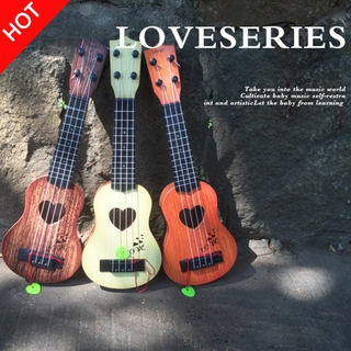 vlth0e 4 Strings Children Simulation Playable Ukulele Guitar Educational Music Instruments Toy Gifts for Beginners