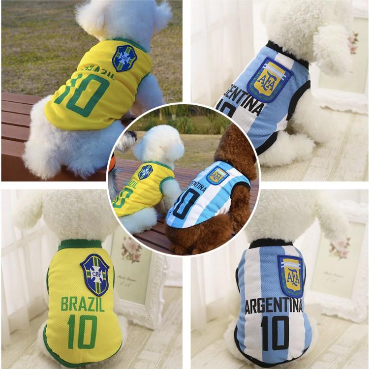 [Mã 267FMCGSALE giảm 8% đơn 500K] Quần áo cho chó mèo, quần áo cầu thủ bóng đá messi, ronaldo dành cho chó mèo