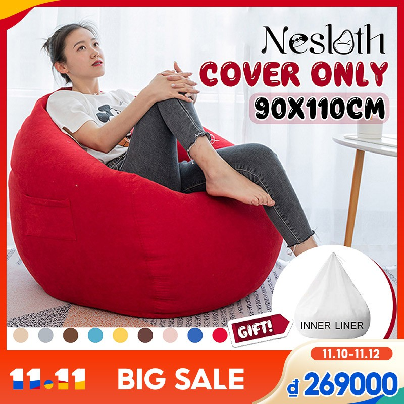 Ghế lười mềm mại 90x110cm dùng cho người lớn