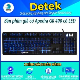 Bàn phím giả cơ GK 490 LED tặng kèm đế gác tay chống mỏi thumbnail