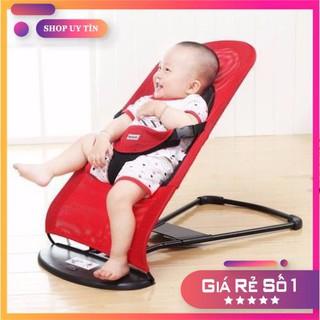 [Hàng Xịn – Bao Xài] Ghế nhún tạo rung lưới thoáng khí gối đầu – ghế rung nhún đa năng cho bé nằm chơi ngủ uống sữa