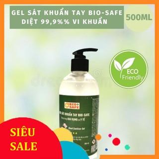 [HÀNG CHÍNH HÃNG] Gel rửa tay khô sạch siêu nhanh tiêu diệt vi khuẩn 99.9% Bio-Safe (Chai vòi ấn 500ml) thumbnail