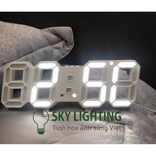 Đồng hồ LED 3D treo tường để bàn thông minh phong cách Hàn Quốc thumbnail