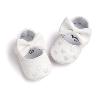 Giày tập đi nơ thêu trái tim cho bé – GIÀY NƠ TIM