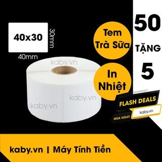 Giấy In Tem Trà Sữa 40x30 mm - Decal Nhiệt 30x40 mm thumbnail