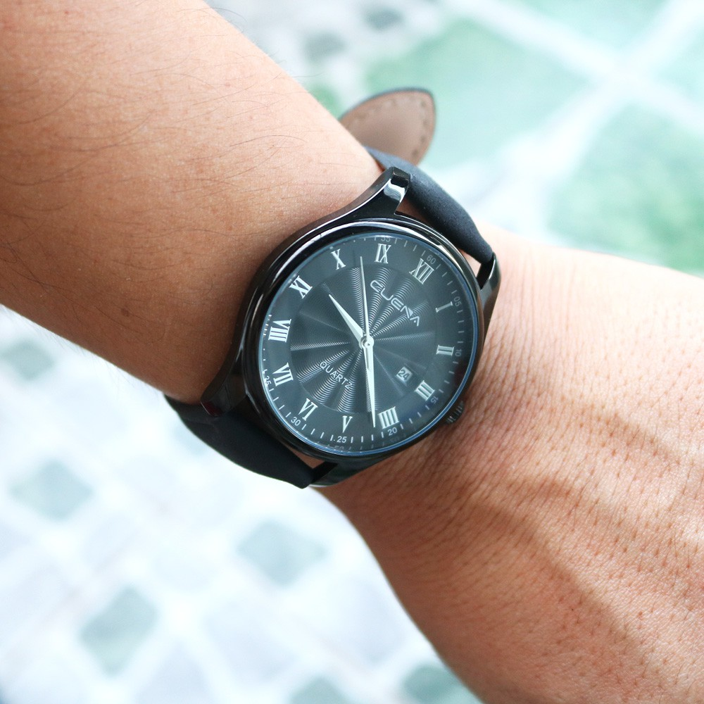 Đồng hồ nam CUENA C868 lịch ngày sang trọng chống nước 3ATM chất liệu dây da Pu mềm dễ đeo đẳng cấp quý ông lịch lãm