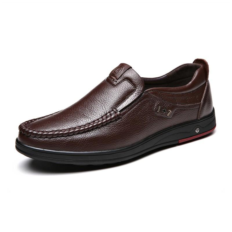 Giày lười da bò nam cao cấp GB001
