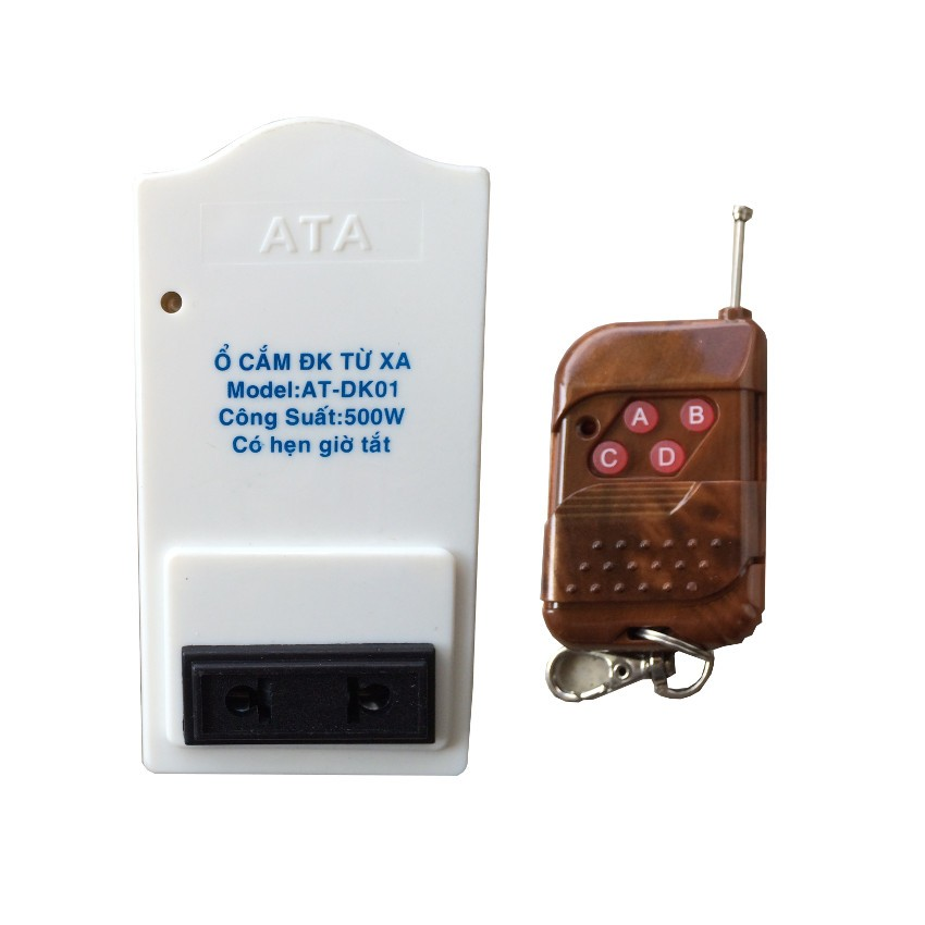 Ổ cắm điện điều khiển tắt mở từ xa 500W ATA 77 - 2633865 , 266717609 , 322_266717609 , 189000 , O-cam-dien-dieu-khien-tat-mo-tu-xa-500W-ATA-77-322_266717609 , shopee.vn , Ổ cắm điện điều khiển tắt mở từ xa 500W ATA 77