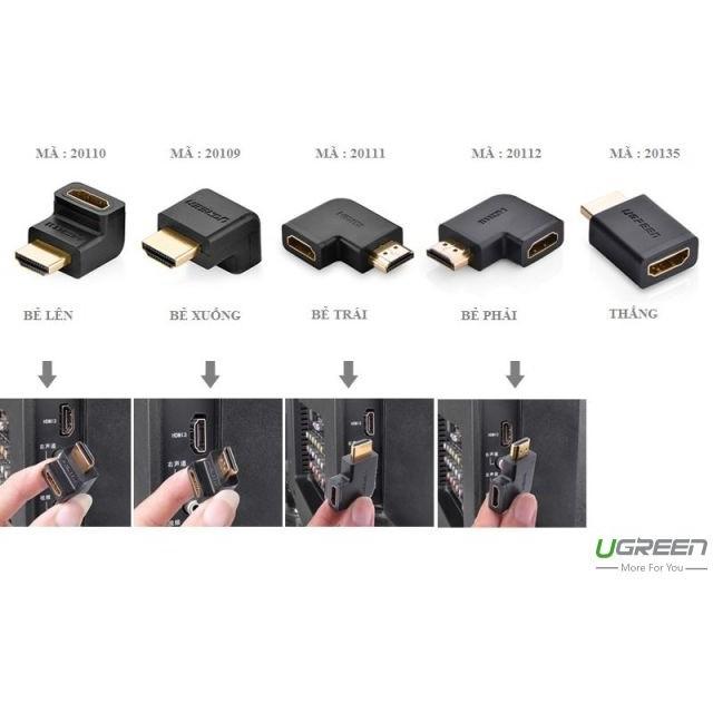 Đầu nối HDMI vuông góc 90 độ Ugreen 20109 (bẻ xuống)