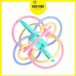 Đồ Chơi Trẻ Em Cho Bé Sơ Sinh 3 6 12 tháng Kiêm Gặm Nướu Hình Quả Cầu Nhiều Màu Sắc Kích Thích Thị Giác - Susi Kids thumbnail