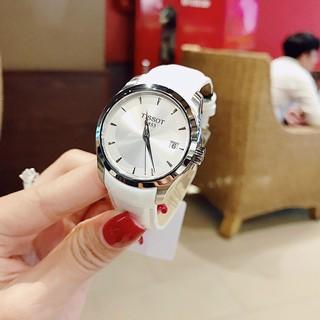 Đồng hồ nữ Tissot dây da bóng mềm, thẻ bảo hành 12 tháng