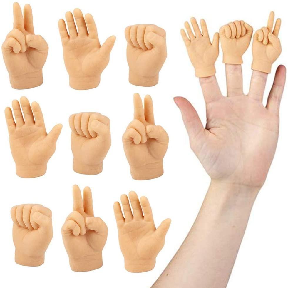 Bàn tay mô hình trái và phải cỡ mini dùng làm con rối đồ chơi