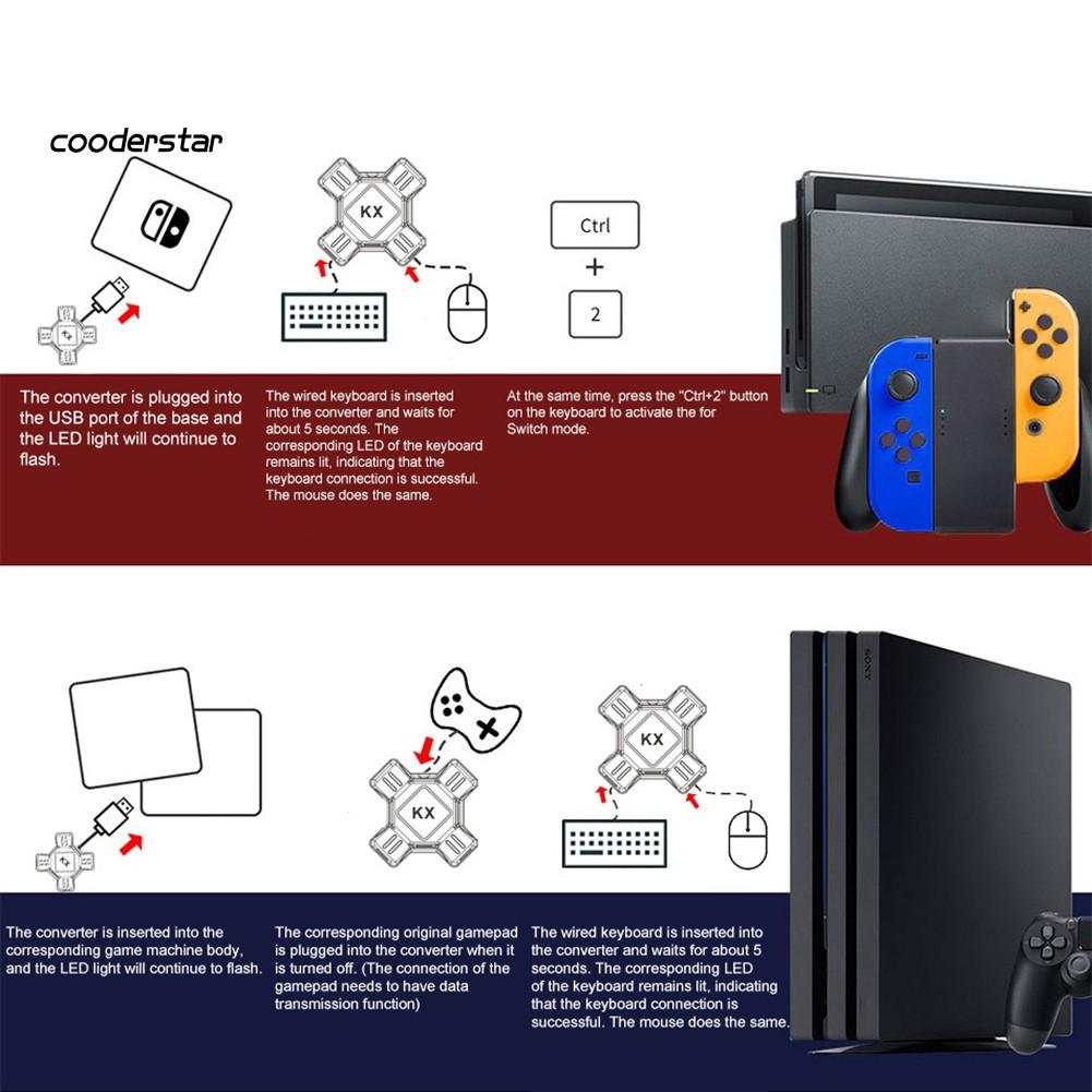Bộ Chuyển Đổi Bàn Phím Và Chuột Rxsc Kx Usb Cho Switch / Xbox / Ps4 / Ps3