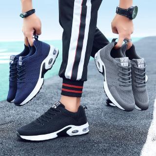 giày thể thao nam Đen sneaker Đệm khí giầy chạy bộ nam