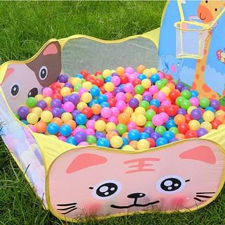 Nhà bóng lều bóng tặng kèm 100 quả bóng nhựa cho bé (Hàng chất lượng cao)