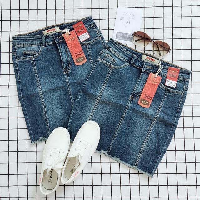 1007971087 - Chân váy jean ngắn