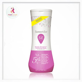 Dung dịch vệ sinh phụ nữ Summer s Eve Simply Sensitive Cleansing Wash 444ml Mỹ thumbnail