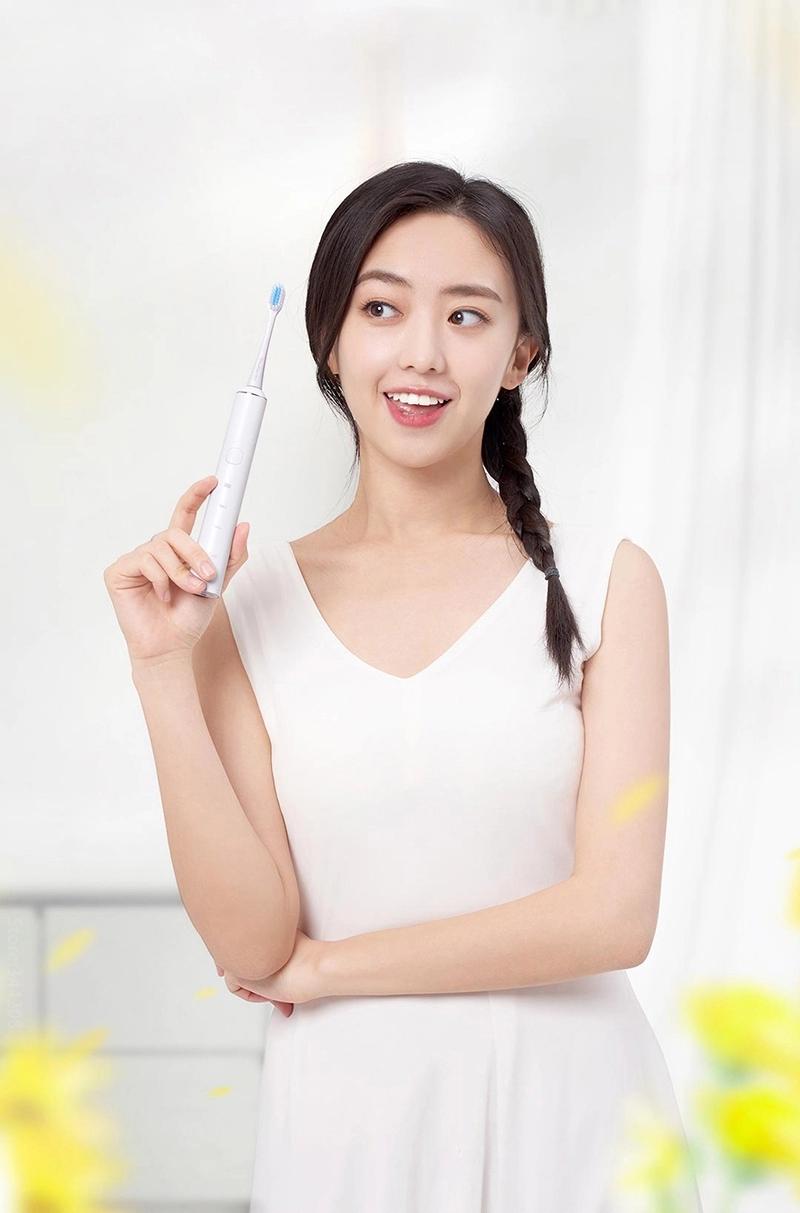 (Hàng Mới Về) Bàn Chải Đánh Răng Điện Siêu Âm Thông Minh Chống Nước Cổng Usb Type-C Xiaomi