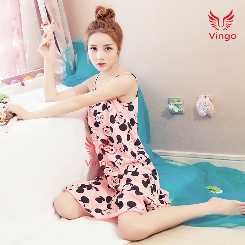 Váy ngủ nữ, váy ngủ hai dây, váy ngủ dễ thương, đồ ngủ nữ mùa hè cao cấp của thương hiệu Vingo - 3279857 , 1029941903 , 322_1029941903 , 230000 , Vay-ngu-nu-vay-ngu-hai-day-vay-ngu-de-thuong-do-ngu-nu-mua-he-cao-cap-cua-thuong-hieu-Vingo-322_1029941903 , shopee.vn , Váy ngủ nữ, váy ngủ hai dây, váy ngủ dễ thương, đồ ngủ nữ mùa hè cao cấp của thư