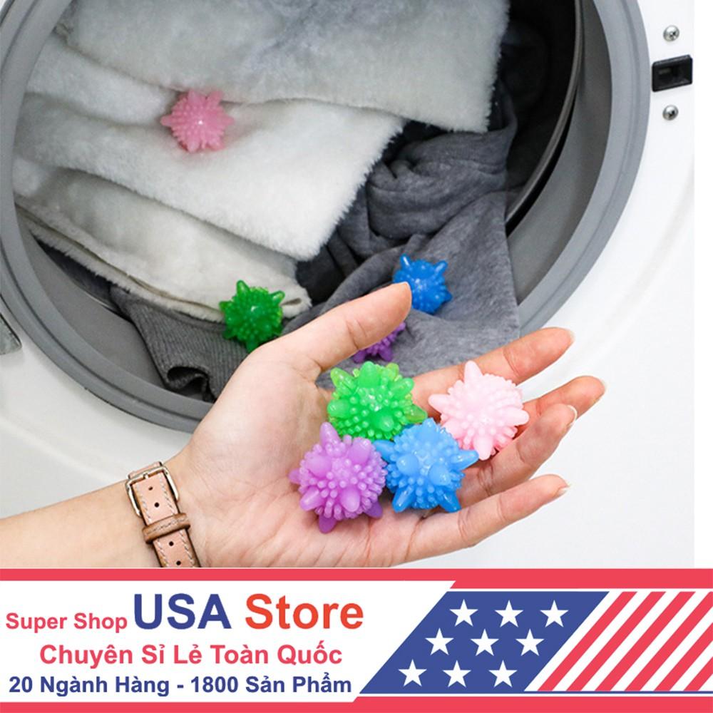 Bóng Nhựa Hỗ Trợ Giặt Giũ - Cơ Chế Vật Lí - Tăng x2 Hiệu Quả Loại Bỏ Vết Bẩn - Chống Nhăn Quần Áo - Tiết Kiệm Bột Giặt