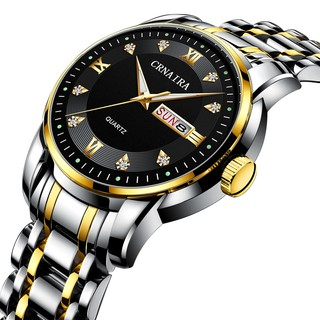 Đồng hồ Nam CRNAIRA C868 chạy 3 kim 2 lịch ngày phong cách thời trang lịch lãm