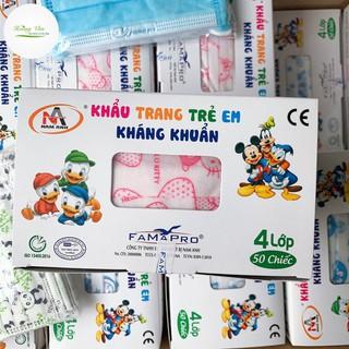 Khẩu trang trẻ em kháng khuẩn FAMAPRO - Hộp 50 cái thumbnail