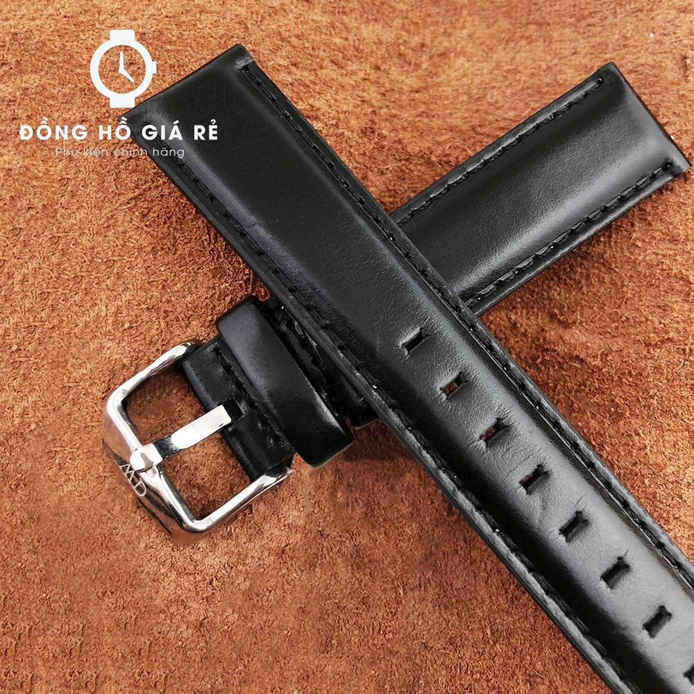[HOT HOT] Dây đồng hồ da DW cho nam size 18mm màu ĐEN MỀM ĐẸP